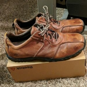 Brown Timberlands men's leather dress shoes 14M